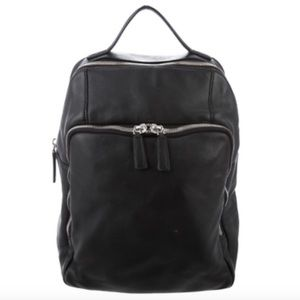 Black Leather Barneys New York Backpack
